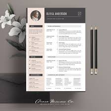 Modern Creative Resume Example Professional Resume Template Modern Cv Template Creative Resume