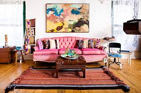 bohemian style interiors living rooms