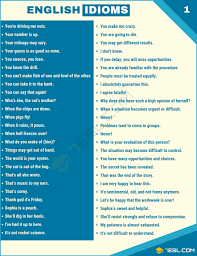 Idiom 1500 English Idioms From A Z With Useful Examples