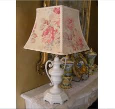 charming shabby chic table lamps for bedroom inspirations with decorations tablecloths sensational design ideas