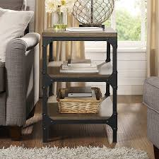 rustic coffee and end tables. Interesting End Crosley Furniture Trenton Rustic Coffee Wood End Table And Tables