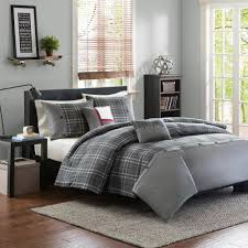 campbell 5 piece grey king california king geometric duvet cover set