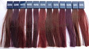 Wella Colour Touch Vibrant Reds Chart Google Search