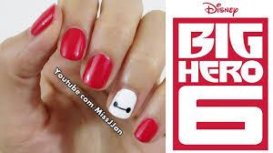 Very Easy ○-○ Disney Big Hero 6 Inspired Nail Art (Short Nails ...