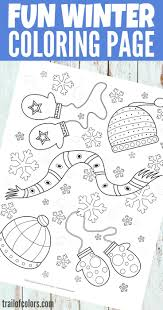 Free Printable Winter Coloring Page For Kids Winter Crafts And