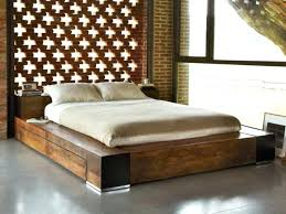 Low Bed With Storage Low Bed Frame Rails Queen With Storage King Low ...