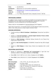 Experience Resume Sample For Web Developer Bongdaao Sample Dot Net