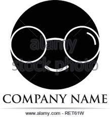 Glasses Logo Design Vector Illustrator Stock Vector Art