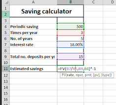 Best Excel Tutorial Saving Calculator