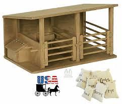 horse le wood toy amish handmade breyer homeschool montessori barn play game