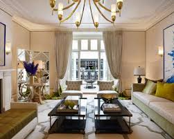 photo of a large retro formal enclosed living room in london with beige walls carpet