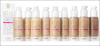 Benefit Foundation Colour Chart Benefit Cosmetics Hello Flawless Oxygen Wow Liquid