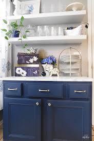 painted kitchen cabinets using sherwin williams indigo batik an easy diy upgrade to an
