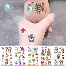 Senarai Harga Rocooart Cartoon Tattoo Stickers Christmas Gift Flash