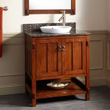 Harington Oak Vanity For SemiRecessed Sink Bathroom - Oak bathroom vanity cabinets
