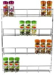 Kitchen Cupboard Storage Andrew James 4 Tier Spice Herb Rack Wall Mountable Or Kitchen