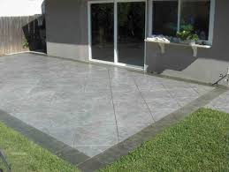 stamped concrete patios pros and cons pressed patio image of design
