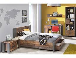 Jugendzimmer Cedric 68 Vintage Braun 5 Teilig Schlafzimmer Bett Nako
