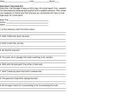 book report topic generator