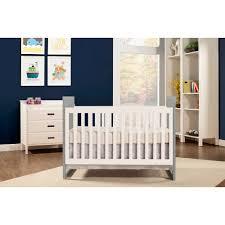 baby mod modena mod two tone in convertible crib gray and