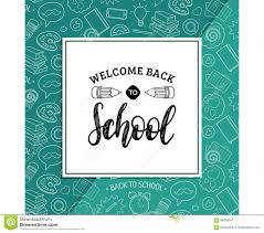 School Poster Designs Back To School Poster With Pencil Drawing Vector Hand Lettering In