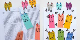make bookmarks paper cats