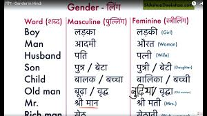 Learn Hindi Lesson 45 Gender