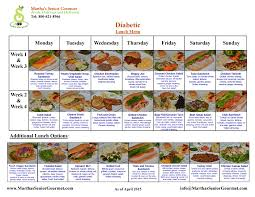 diabetes food menus menu diabetes men day program