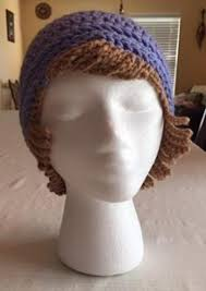 Crochet Chemo Hat Pattern Enchanting Crochet Chemo Hat With Hair Free Hat Pattern Crochet News
