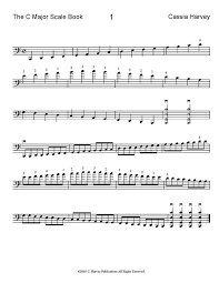 The C Major Scale Book For Cello C Harvey Publications