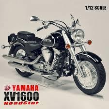 1 12 scale motorcycle assembly model building kits yamaha xv1600 road star motor diy kit tamiya 14080