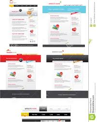 Web 2 0 Design Template Web 2 0 Template Pack Stock Illustration Illustration Of