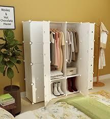 KOUSI Portable Clothes Closet Wardrobe Bedroom Armoire Dresser Cube Storage  Organizer, Capacious U0026 Customizable,