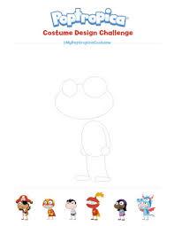 Poptropica Creators Blog Mypoptropicacostume Design Template