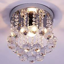 1 light crystal chandelier lighting fixture small clear crystal re lamp for aisle stair led lamp