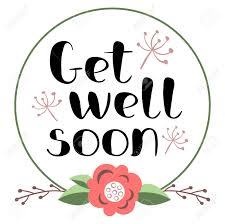 Get Well Soon Poster Get Well Soon Card With Hand Drawn Lettering In Decorative Poster