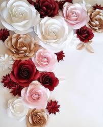 Paper Flower Wedding Decorations Large Paper Flowers Wedding Decoration Ideas White Paper Etsy
