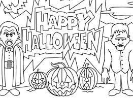 Small Picture Halloween Coloring Page Happy Halloween Dracula and