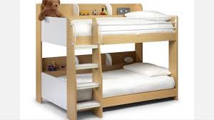 wooden bunk bed kids children furnature with storage shelves and sy ladder