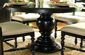 black round pedestal dining table table fancy black round pedestal dining 3 drop leaf extension inch