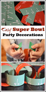 Homemade Super Bowl Decorations Super Bowl Paper Chain Decoration DIY Catch My Party 16