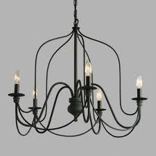 contemporary and traditional wrought iron chandelier