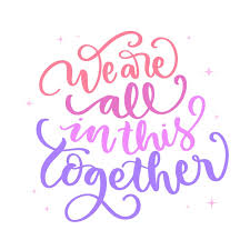 Free Vector | We are all in this together message
