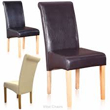 vital dining chairs faux leather dining room furniture 2 4