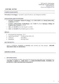 Computer Science Resume Template Extraordinary Sample Resume For Computer Teachers Freshers Feat Computer Teacher