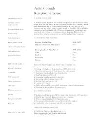Medical Receptionist Resume – Resume Template Directory
