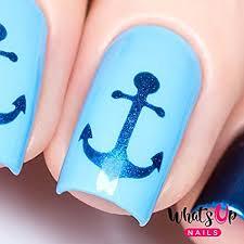 amazon whats up nails anchor nail vinyl stencils for nail art design 1 sheet 20 stencils beauty