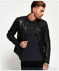 superdry black endurance comp leather jacket l855669 superdry outerwear mens leather jackets
