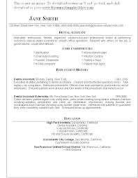 Dental Resume Samples Orthodontic Resume Samples Dentists Resume ...