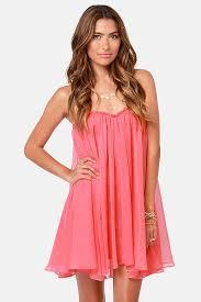 Blaque Label Anthology Strapless Coral Pink Dress